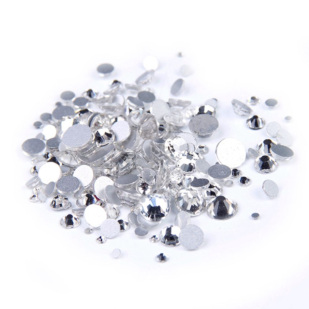 Super Deal Shiny Strass Clear Crystal Rhinestones 1440PCS SS3 to SS10 Non Hotfix For Nails Art Backpack Design Decorations