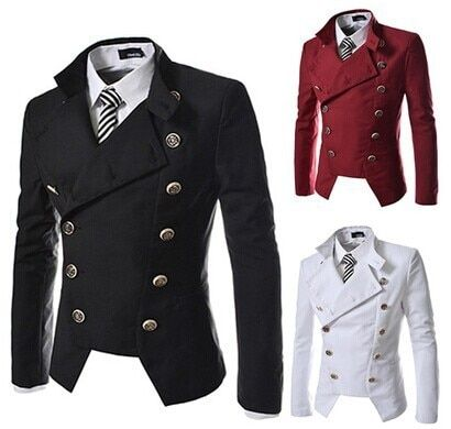 Top Quality Vintage Casual Slim Fit Men Dress Coat Double Breasted Blazer Men Solid Color Tuxedo Jacket Suit For Men Large Size