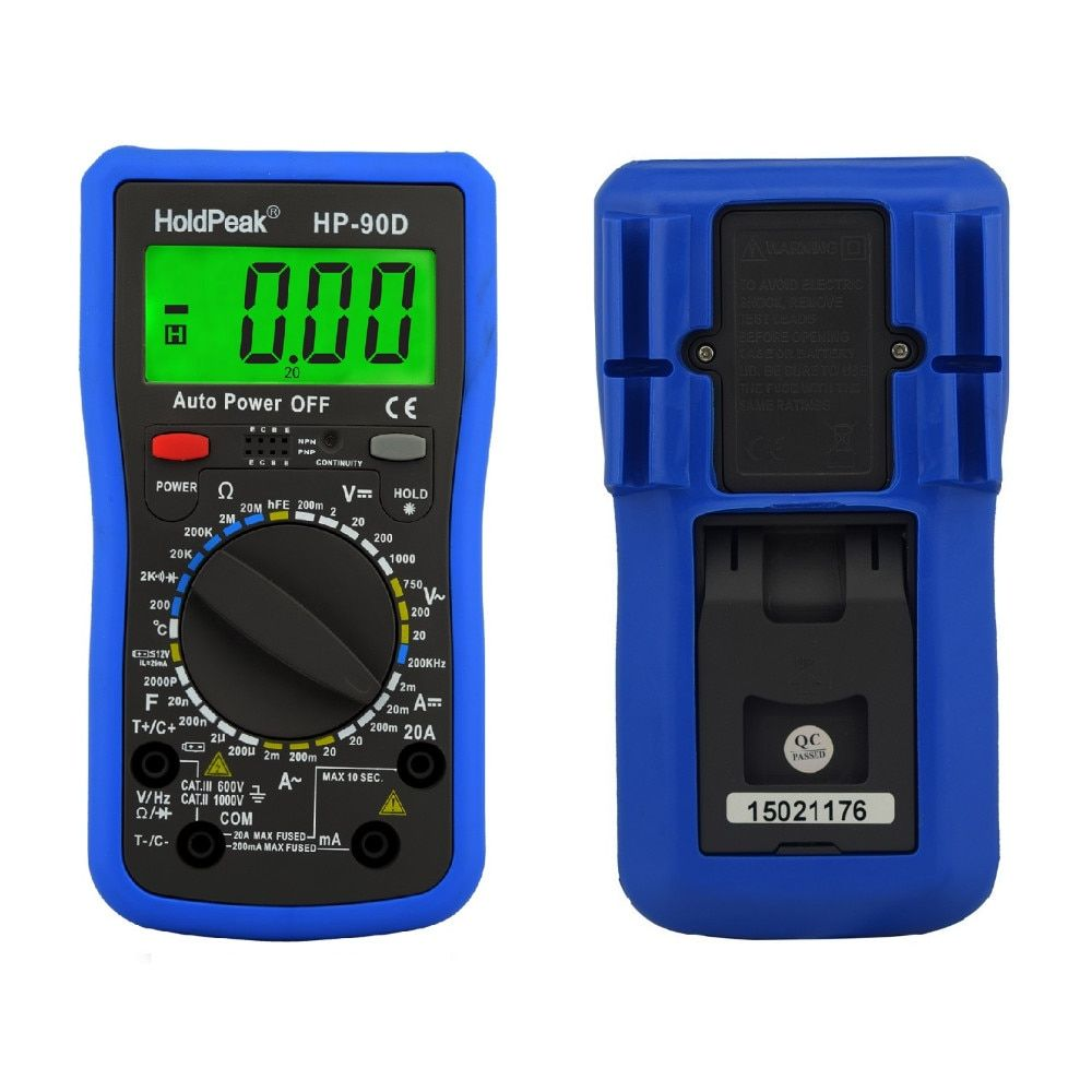 Multimeter Digital Holdpeak Professional Digital Multimeter Meter Multimetro Digital Temperature/frequency/capacitance Tester
