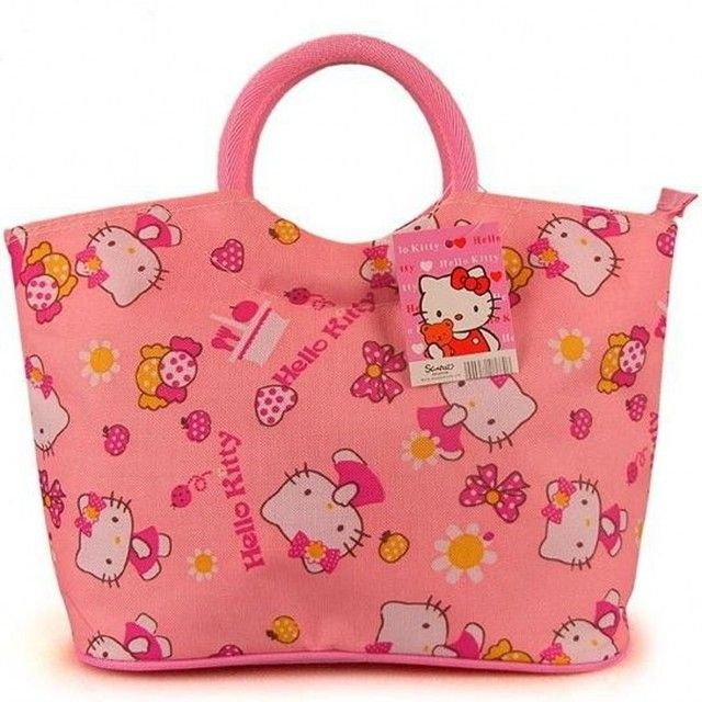 Casual 2017 Hello Kitty shopper bag women cartoon cute designer brand large tote clutches handbag borse pochette bolsa saco 5