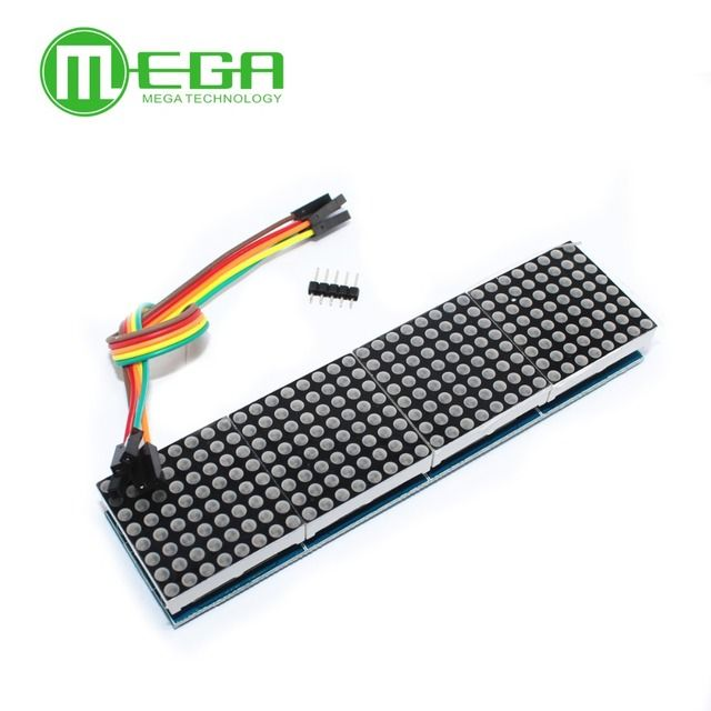 10pcs/lot MAX7219 Dot Matrix Module For Arduino Microcontroller 4 In One Display with 5P Line
