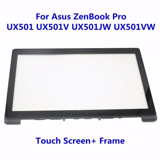 15.6'' Touch Screen Digitizer Glass Panel Replacement Repairing Parts For Asus ZenBook Pro UX501 UX501V UX501JW UX501VW + Frame