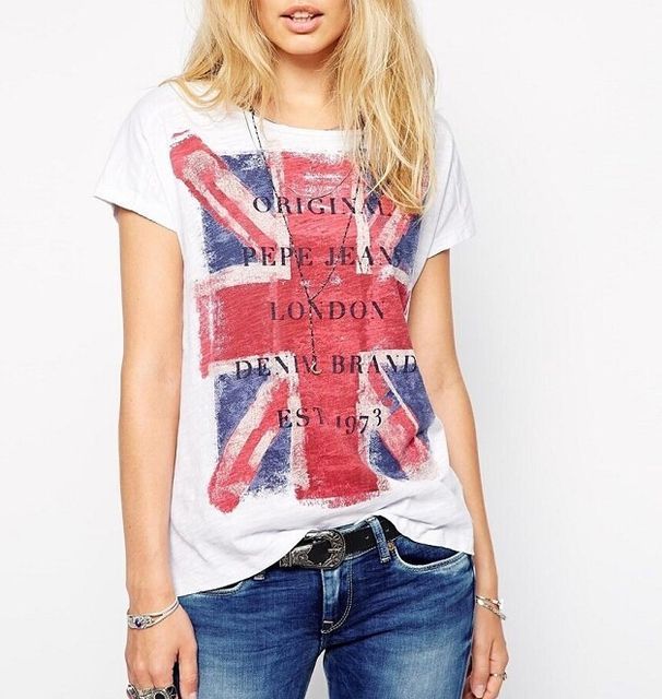 Women plus size England flag T shirt O neck short sleeve the United Kingdom Camisa Social Feminina shirt casual tops DT81