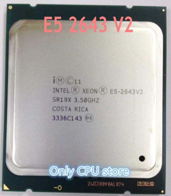 E5-2643 V2 Original Intel Xeon E5-2643V2 CPU 6-cores 3.50GHZ 25MB 22nm LGA2011 E5 2643V2 processor