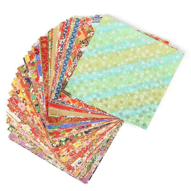 Handmade 100 Sheets 14x14cm Mixed Pattern Japanese Flower Floral Origami Paper DIY Materials Folded Paper Craft Pattern Random