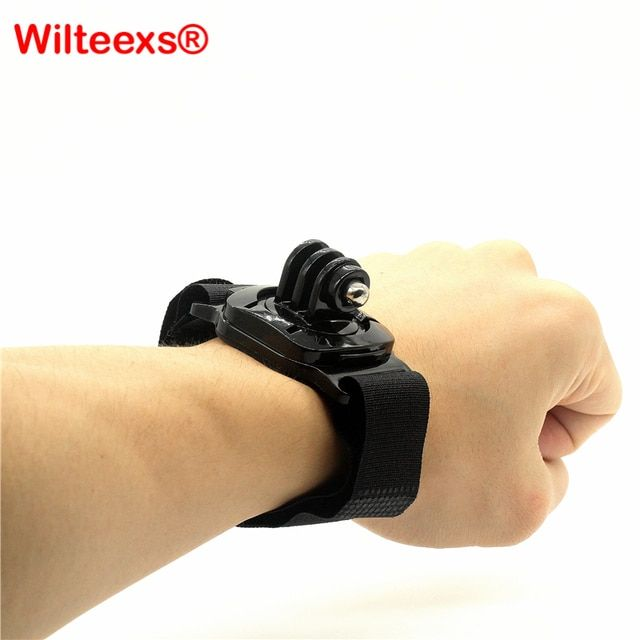 WILTEEXS Wrist Strap Rotary 360 degrees Hand Mount With Turn Lock For Hero 5 4 3+/3 sj4000/5000 XIAOYI Camera Accessories