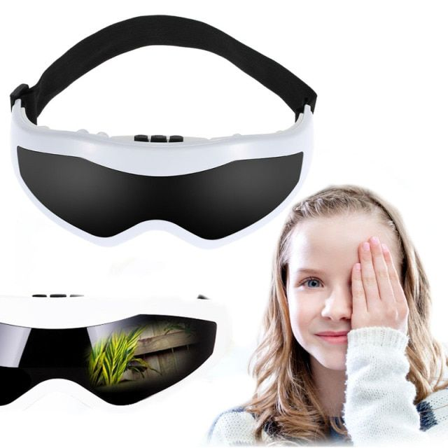 Eye mask massager brain massage sinus eye care massager Mask Migraine DC Electric Health care beauty Forehead Eye Massager
