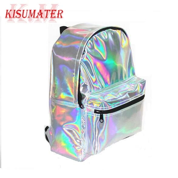New vintage women backpack Super Quality  hologram backpack laser silver bag Student's School hologram backpack Free Shipping