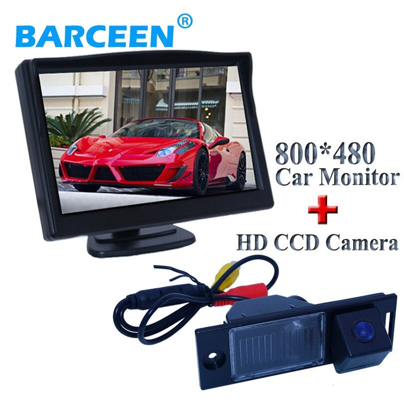 For Hyundai IX35 2014 Collocation kit  incllude In-Dash fit universal car monitor +170 degree high-quality car rearview camera