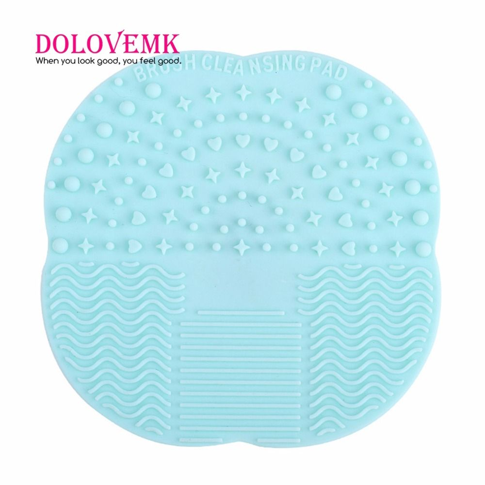 Dolovemk Silicone Makeup Brushes Cleaning Mat Cleaner Scrubber Cleaning Pad