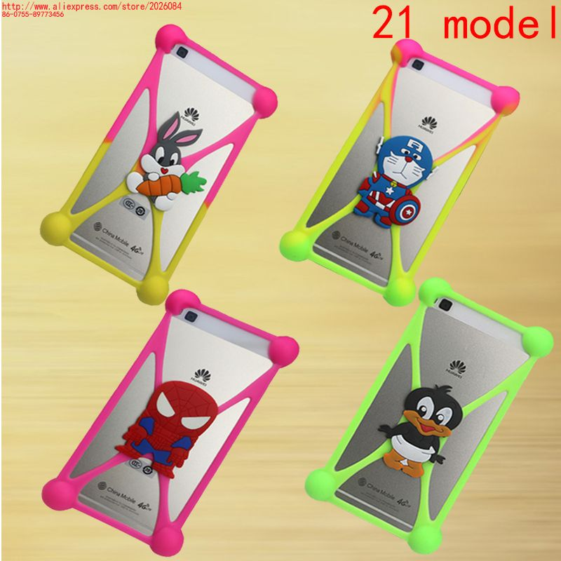 latest Phone Cover For Alcatel One Touch Pixi 3 4.0 4013 4050 4013X 4013D 4050X 3D Cartoon Character Image Soft Silicone Case