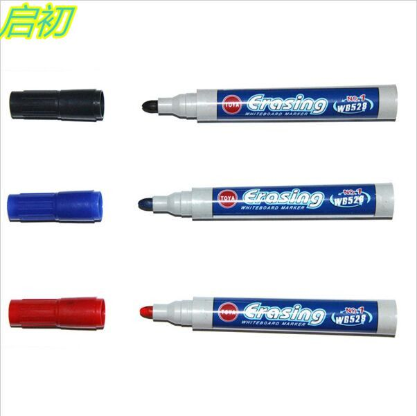 3pcs/Set Brand New Magnetic Whiteboard Pen Erasable Dry White Board Markers Magnet Built In Eraser Office School Supplies