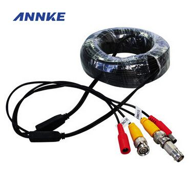 ANNKE BNC Video Power Siamese Cable 65ft 18m for Analog CCTV Surveillance Camera DVR Kit Surveillance Accessories