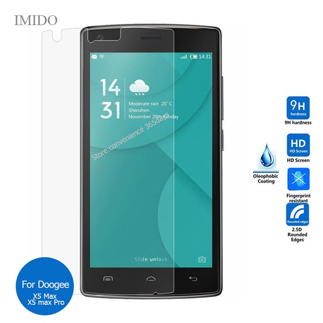 For Doogee X5 Max Tempered Glass Screen Protector 2.5 9h Safety Protective Film On Dooge X5Max Pro X 5 pelicula de vidro