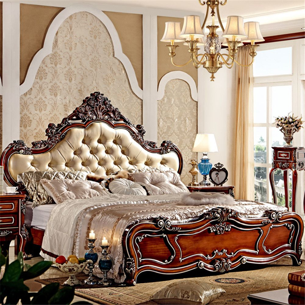 hot selling wood double bed designs