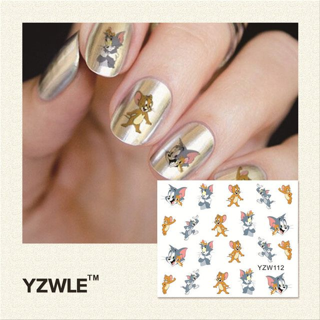 YWK 1 Piece Hot Sale Water Transfer Nails Art Sticker Manicure Decor Tool Cover Nail Wrap Decal (YZW112)