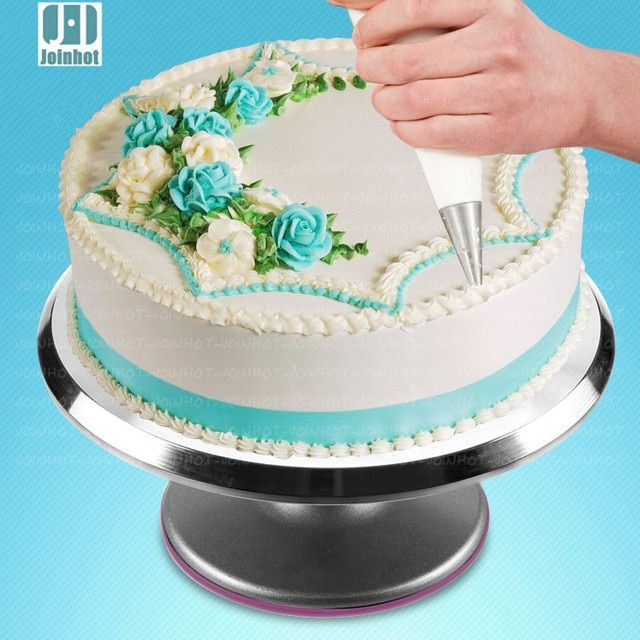 2016   by UPS Cake Decorating turntable aluminum alloy skid cake