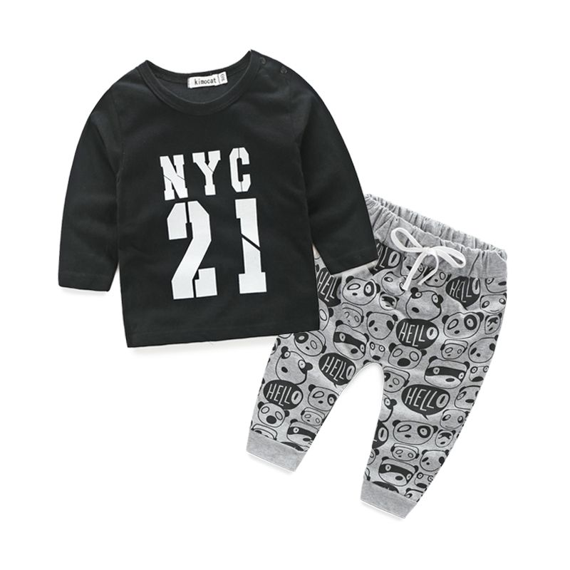 Newborn clothes for bebes style letter printed casual baby boy clothes baby newborn baby clothes baby clothing kids clothes