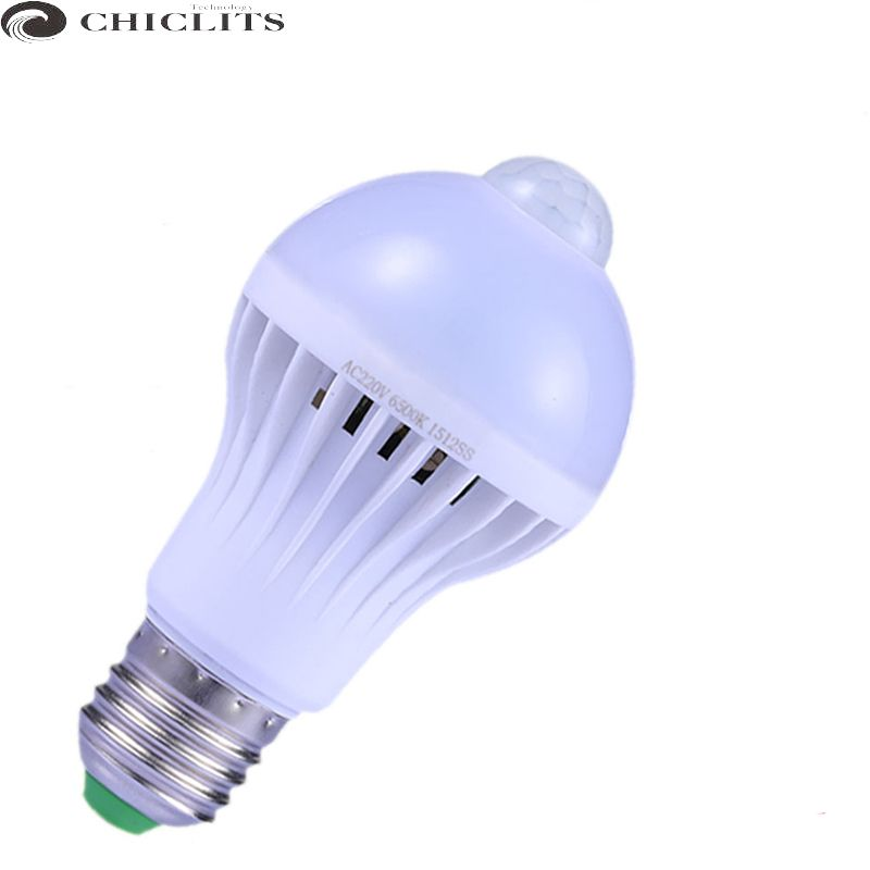 Chiclits Led Motion Sensor Light Bulbs E27 Warm White 110V 220V 9W PIR Bulbs corridor washroom Smart Bombillas Led Sensor Lamp