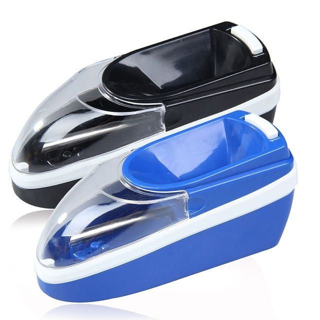Mini Plastic Automatic Electric Cigarette Injector Anti-slip Cigarette Rolling Machine Portable Tobacco Pipes EU Plug