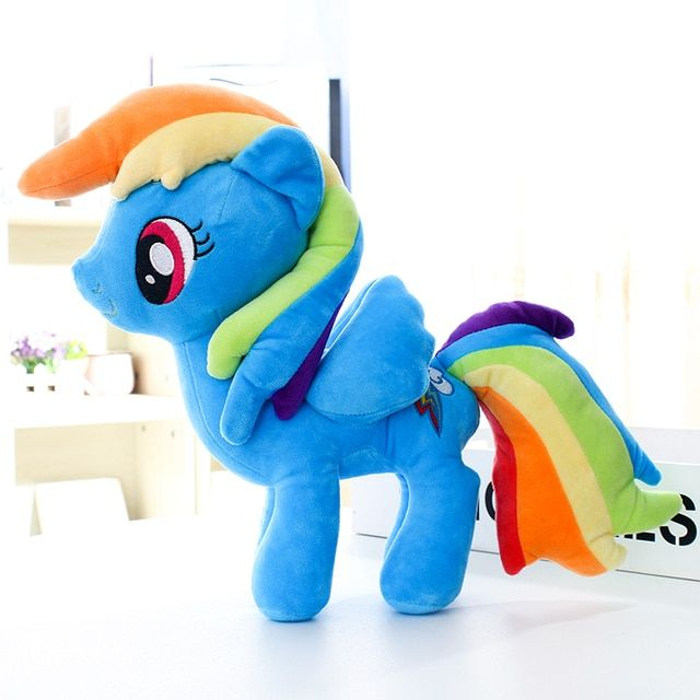 Ty Beanie Boos Big Eyes Soft Stuffed Animal Unicorn Horse  Plush Toys Doll Rainbow Dash