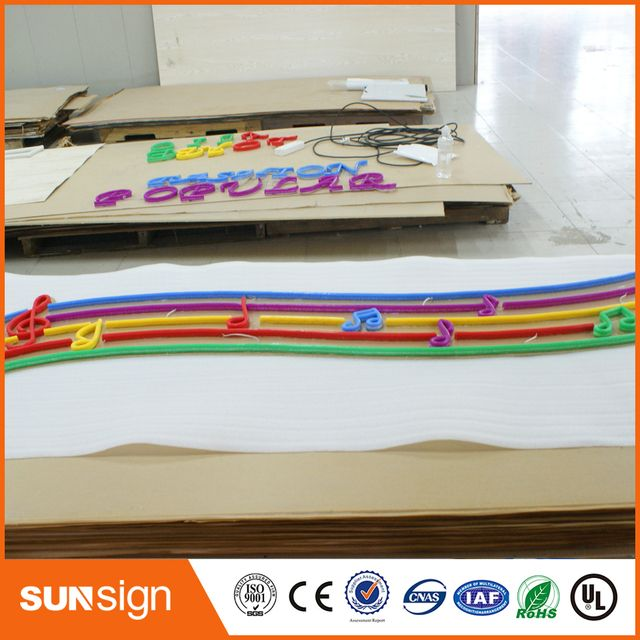 Customized neon light sign outlet outdoor tube sign illuminated letters for advertising