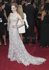 Oscar The 85th Annual Academy Awards Amanda Seyfried A-line High Neck Embroidery Organza Oscar Celebrity Red Carpet Dresses