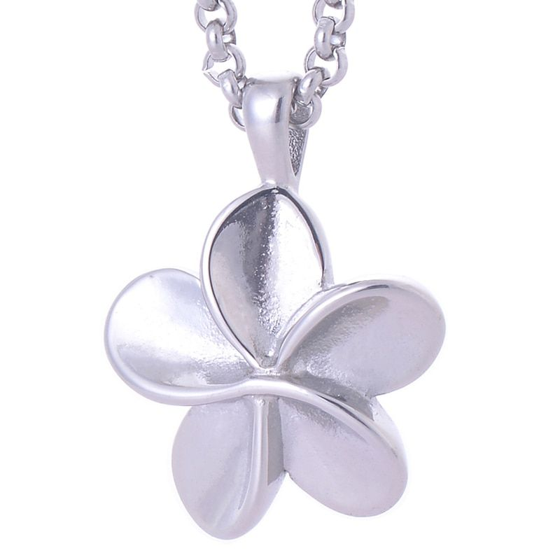 316L Stainless Steel Pet Urns Cremation Jewelry Pendant Necklace Flower Shape keepsake ashes jewelry LY008