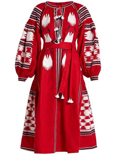 Fashion 2016 vita kin women's national embroidery trend linen midguts one-piece dress 0329