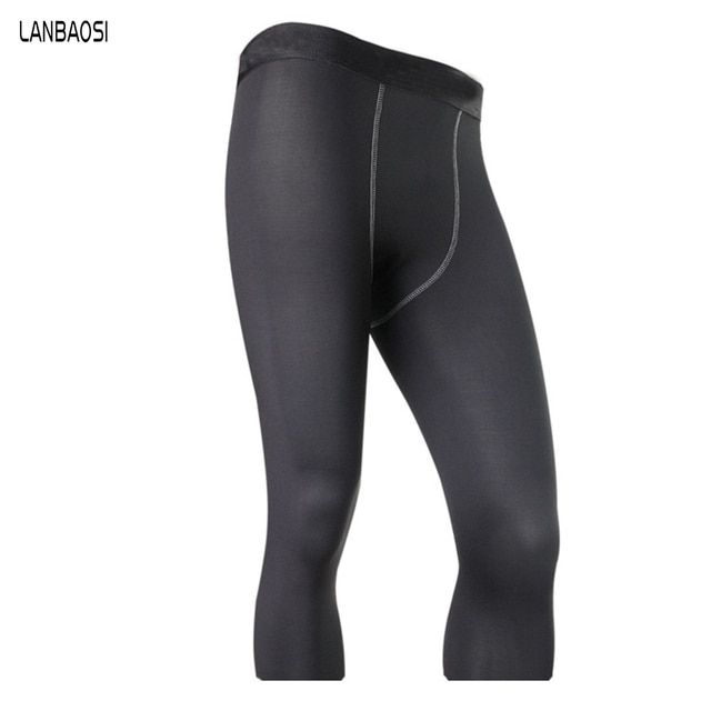 Hot Sale Men's Running Pant Sweat Quick Drying Trousers Compression Training Fitness Tights Capri Yoga Pantalones Gym Hommes