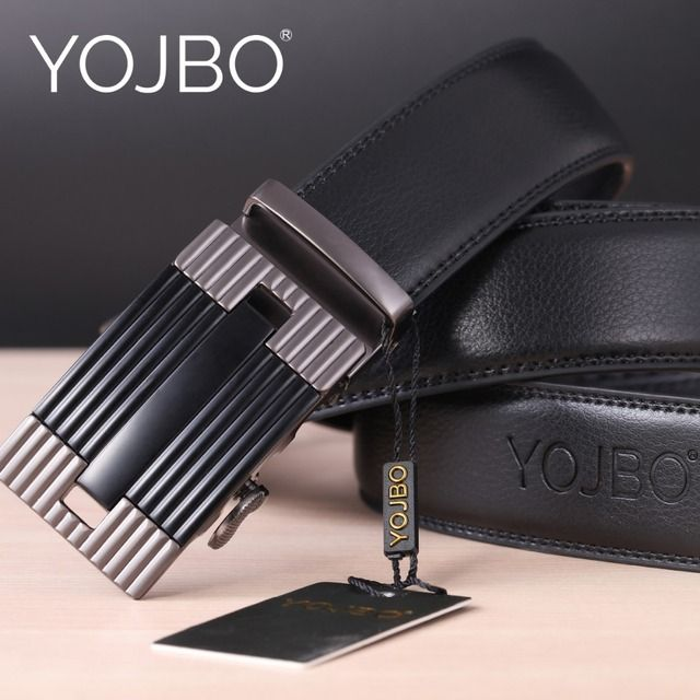 YOJBO Men Belt Luxury Leather Male 2018 Fashion Luxuvry Designer Brand High Quality Waist Strap Automatic Buckle Belts for Men