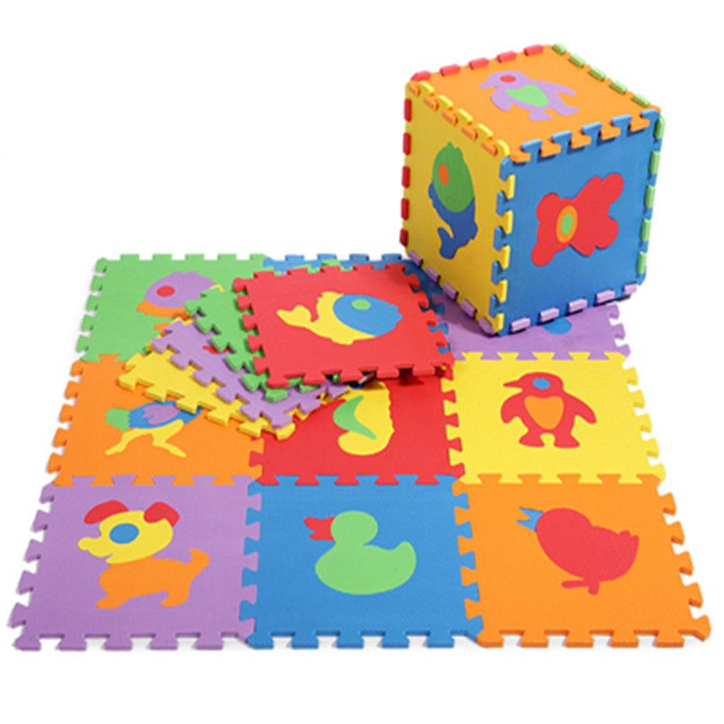 Promotion 10 pcs/ lot animals play mat child cartoon EVA puzzle floor mat baby eva foam patchwork floor mats EDD004