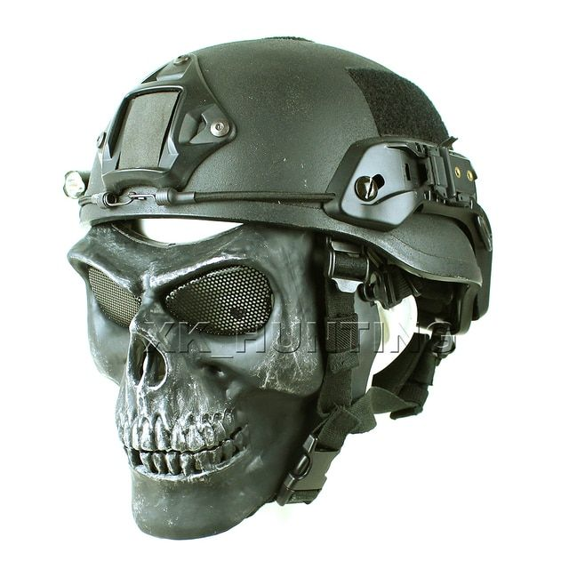 airsoft CACIQUE Skull Full Face Tactical Military Skeleton Full Face mask for hunting airsoft free shipping