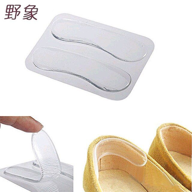 Hot sales 1 Pair Shoe Insoles Self-adhesive Silicone Gel Heel Cushion Foot Care Shoe Pads Shoe Insoles