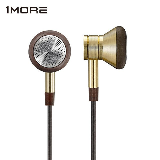 1MORE EO303 Piston Earbuds in-Ear Earphone for phone, Super Bass Metal in Ear Earphones with Microphone and Remote Gold