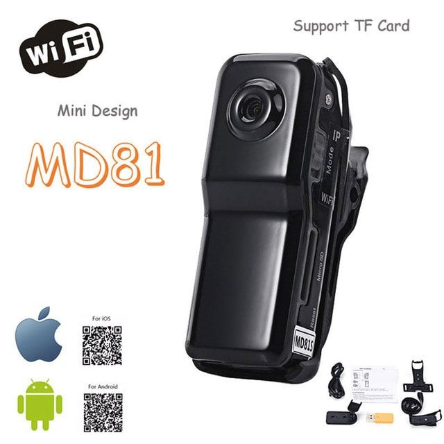 Mini MD81 WiFi Camera Camcorder IP CCTV P2P Wireless Camera Security Record Camcorder Video Surveillance Webcam Android iOS