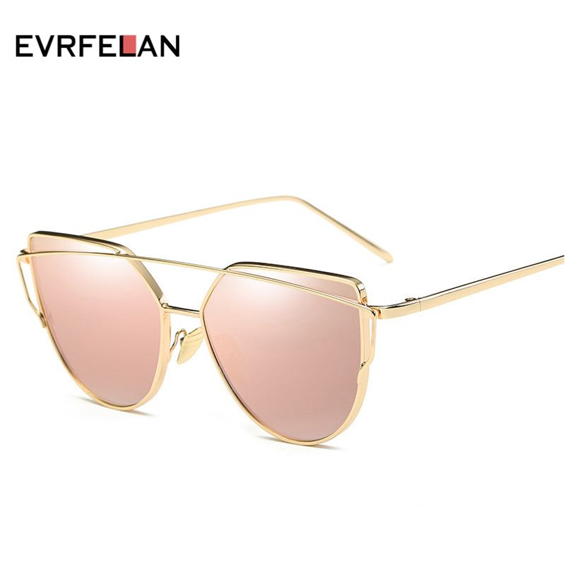 Fashion Brand Sunglasses For Women Glasses Cat Eye Sun Glasses Female Vintage Gold Glasses Mirror Sun Glasses Men Sunglasses