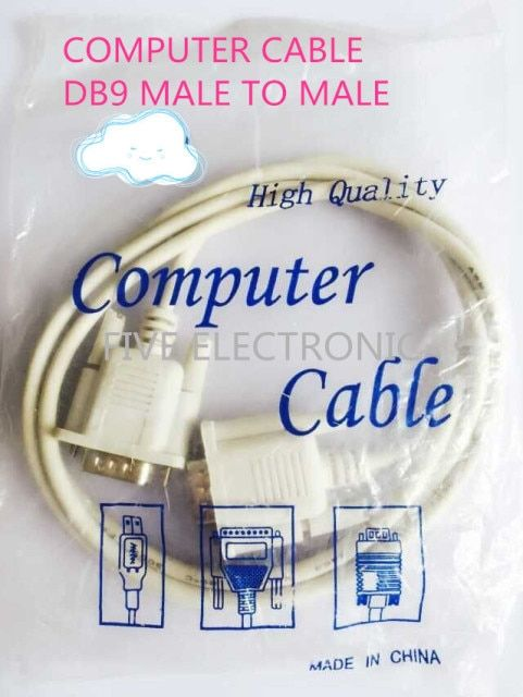 FREE SHIPPING!  DB9 CONNECTOR Male to Male Serial Port Cable . RS232 Computer Cable. COM Cable. Direct Connection