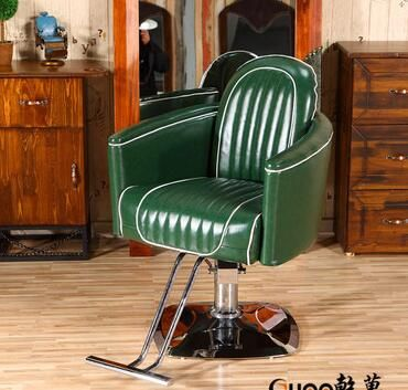 Electric can be put down lift haircut chair. Hairdressing chair..