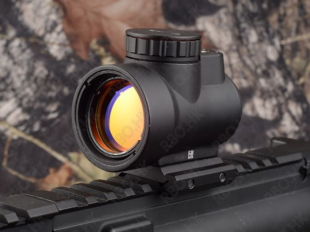 Tactical MRO style 1x Red dot sight scope Shotgun Scope Hunting Riflescope picatinny mount Black M3855
