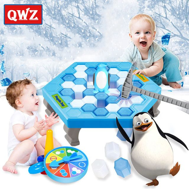 QWZ Penguin Trap Activate Funny Game Interactive Ice Breaking Table Penguin Trap Entertainment Toy for Kids Family Fun Game