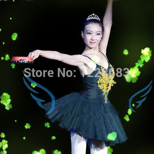 Professional Classic Size 130cm - 175cm Ballet Adulto Dance Wear Bailarina Tutu Skirts Adults Black Swan Costume
