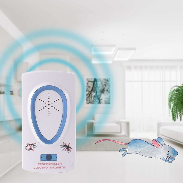 EU Plug ABS 110-220V Ultrasonic Pest Repeller Electronic Insect Repellent Device Pest Control Rodent Mouse Anti Mosquito Insect