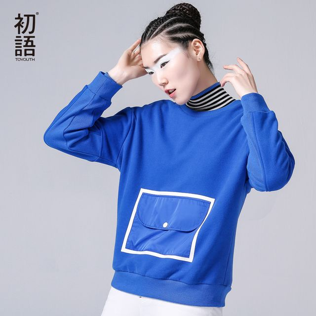 Toyouth 2017 New Arrival Women Cotton Long Sweatshirts Autumn Casual Pullovers O-Neck Sweatshirts