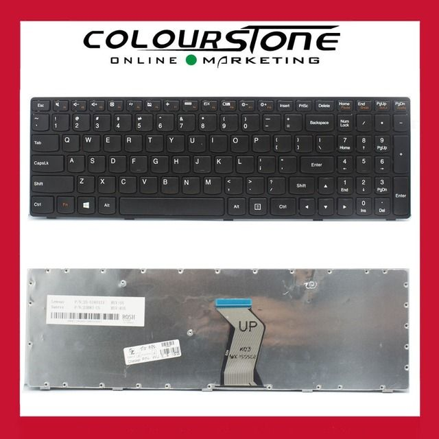 G500 US Laptop keyboard for Lenovo G500 G505 G510 G700 with Black frame and Number pad notebook keyboard