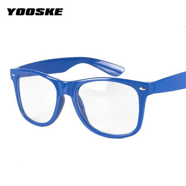 YOOSKE  Glasses Frame Men Women's Spectacle Frame Optical Glasses With Clear Glass Brand Clear Transparent Glasses