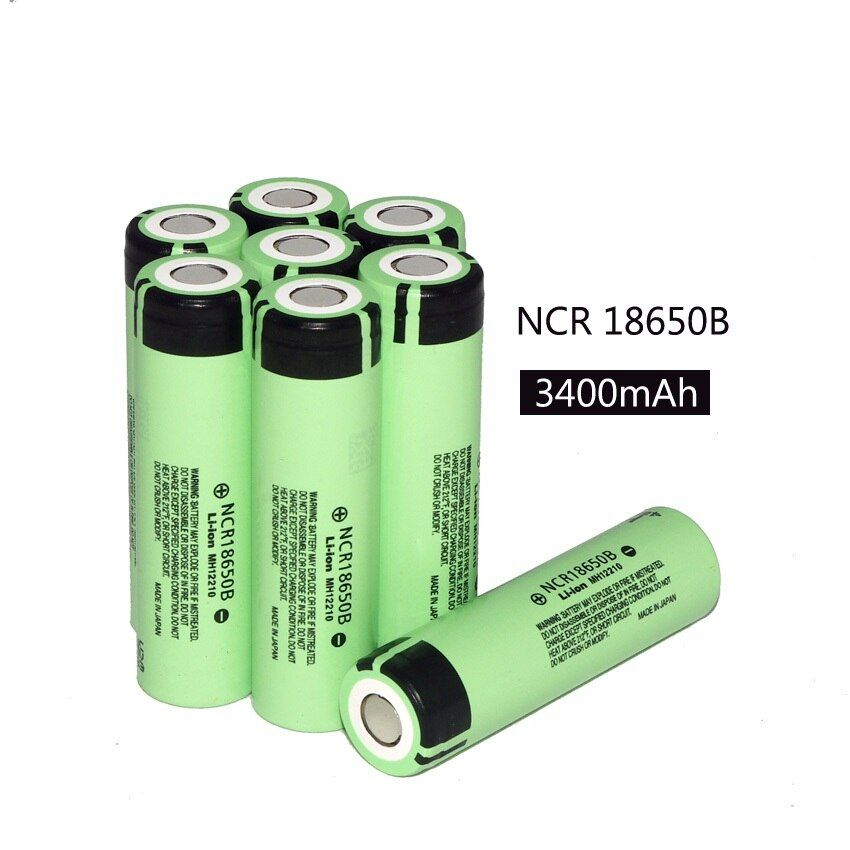 8PCS New Original NCR18650B 3400mAh 18650 power bank battery 3.7V Li-ion Rechargeable battery for panasonic + Free Shopping