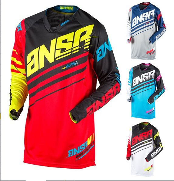 2017 Real New Style Men's Motocycle Motocross Moto Jerseys Cycling Mountain Bicycle Long Sleeve T-shirt Sports Clothes S~3xl