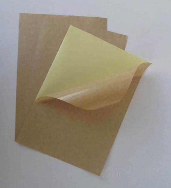 10/30/50 Sheets Kraft Matte Sticky Paper Printable Self Adhesive Label Sticker 145*210 mm
