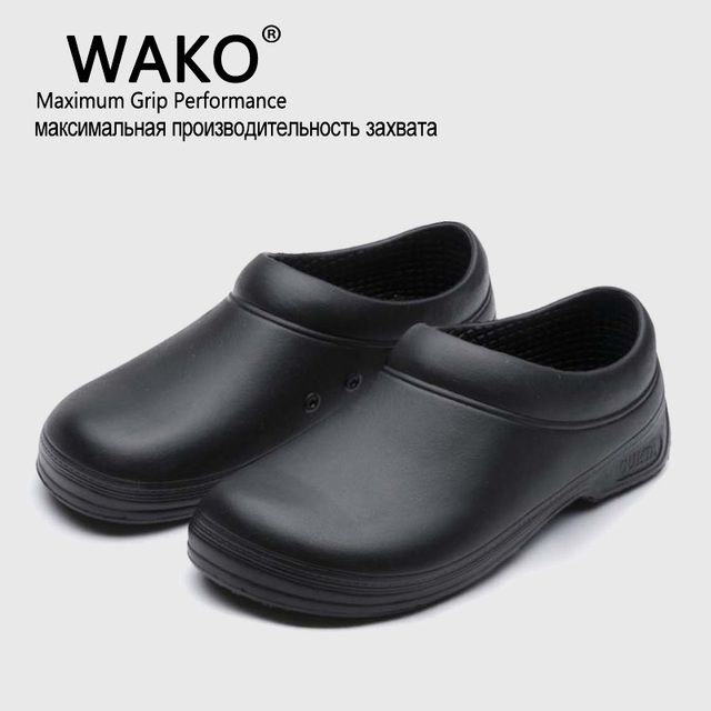 WAKO Hot Sale Men Chef Kitchen Working Shoes Casual Flat Work Shoe For Unisex Cook Working shoe Men